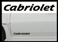 CABRIOLET CAR BODY DECALS